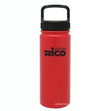 En acier inoxydable durable Sports vide bouteille rouge 18oz