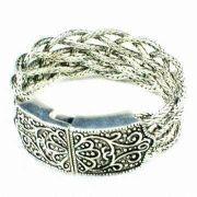 Silver Metal Copper Alloy Fashion Accessories Jewelry Cuff Bangle Bracelet 35g