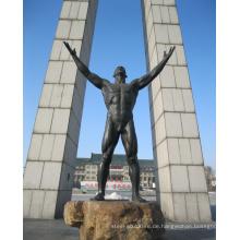 Freizeitpark Statue Outdoor Garten Dekoration Metall Handwerk Bronze männlich Akt Skulptur