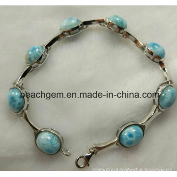 Moda joias de prata Larimar pulseira (BR109-8)