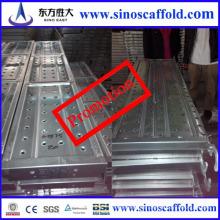Tablero de tablero de acero galvanizado para uso en albañilería