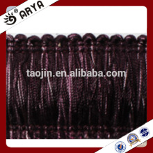 colorful brush tassel handed made tassel fringe and tassel for curtain decoration and other home textile