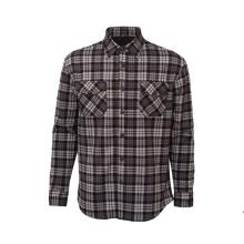 Camisa de flanela xadrez de manga longa casual manter quente