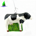 Glass coloured glaze crafts  cow figurine