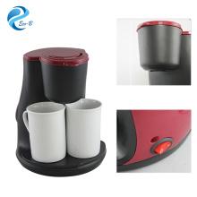 Рекламные подарки для клиентов Дополнительный цвет Американский стиль 2 чашки Капельные кофеварки Домашняя кофеварка 240 мл