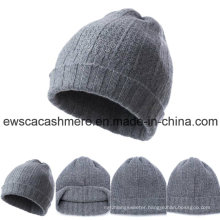 Men′s Top Grade Pure Cashmere Beanie Hat A16mA2-001