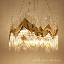 New arrival high-end clear glass rod E14 decoration pendant chandelier