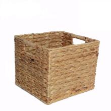 Практичная прямоугольная корзина для хранения водного гиацинта