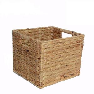 Practical Rectangular Water Hyacinth Storage Basket