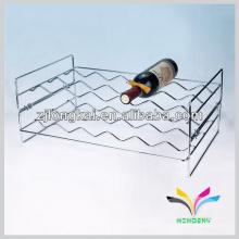 comptoir 2 étages style ondulé chrome fantaisie fer forgé fil de vin rack