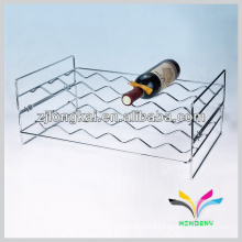 counter top 2 floors wave style chrome fasionable wrought iron wire wine rack