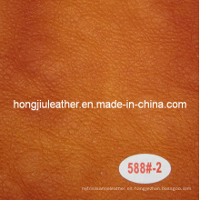 Sofá de cuero de media tela de estilo italiano medio cuero