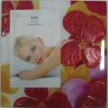 Red Flower Silk Printing Glass Photo Frame