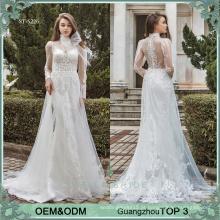 Vestidos de noiva online fabricante vestido de casamento guangzhou primeira classe manga longa vestidos de casamento de praia casamento vestido de noiva