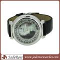 Reloj de pulsera de cuero con correa de aleación Reloj de mujer