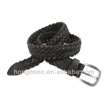 new stylish handmade western braided leather belt