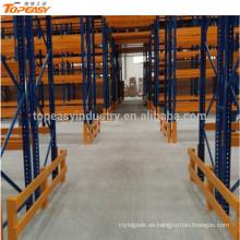 rack de paleta selectiva de almacenamiento de metal resistente para el almacén