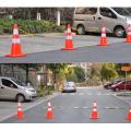 ПВХ дорожное предупреждение цветной конус безопасности дорожного движения