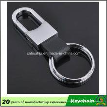 Porte-clés en cuir Logo personnalisé