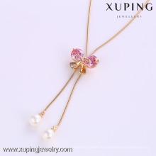41779-Xuping оптом подвески партия подарков бантом форма ожерелье с жемчугом