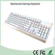 7 retroiluminación LED multicolor retroiluminada teclado mecánico del juego