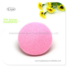 Pink Compressed Sponge With Custom Logo