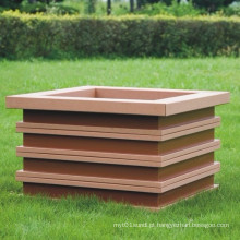 High Quanlity Plástico de madeira Composto / WPC Flower Box610 * 610 * 475