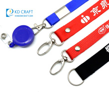 Wholesale promotional custom cheap fashion neck lanyards printed 30mm recycled polyester sublimated lanyard with badge reel