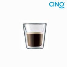 vidrio de doble pared de 2014 nuevo productos vidrio borosilicato taza taza café pequeño Italiano