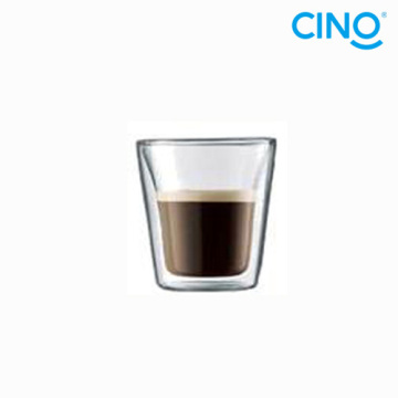 2014 new products borosilicate glass double wall glass cup Italian small coffee cup