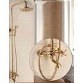 Copper Polished Luxury Bath Shower Faucet