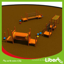 Benutzerdefinierte Größe Outdoor Holz Spielplatz Set für Kinder mit Affen Bars