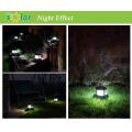 Poste de lámpara solar LED luces, led de luz solar para poste de la cerca, valla solar iluminación para la iluminación del jardín paisaje