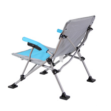 Easy carry foldable camping chair outdoor leisure folding stainless chair