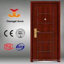 Safty Grade Armored Steel Wood Decorative Front Doors