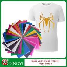 Qingyi gros transfert de chaleur de paillettes d'or en vinyle pour les vêtements