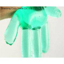 Grüne transparente wasserdichte Einweg-PE-Handschuhe