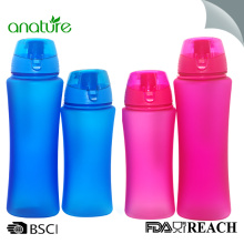 Factory directly provided for Drinking Water Bottle 480ML Plastic PC Water Bottle With Rubber Coating supply to Belgium Exporter