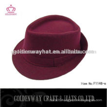 womens fashion burgundy fedora hats