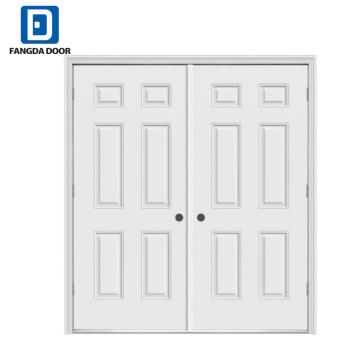 FANGDA 6 Panel Wohn Außen Doppel-Stahltüren