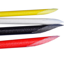 Luva de fibra de vidro revestida de silicone resistente a alta tensão