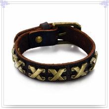Bijoux en cuir Bracelet en cuir Bijoux faits à la main (LB179)