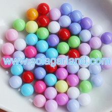 Acrylic Round Gumball Beads Without Hole Plastic No Hole Beads