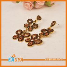 Hot Sell Jewelry Crystal Beads Double Butterfly Drop Earrings