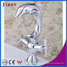 Fingerer Original Dolphin double poignée salle de bains lavabo robinet chaude et Clod robinet d'évier