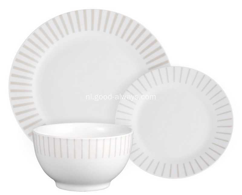 18 stuk ronde porseleinen diner Set met sticker