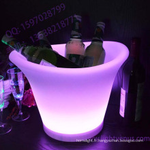 LED Light Up Seau à glace en plastique en aluminium