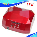 36W diamond nail led lamp/Hot sale dual uv led induction Sensor nail lamp