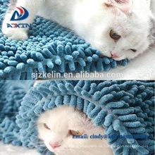 Toalla de limpieza suave y suave para mascotas Chenille Microfiber