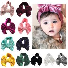 Acessórios de cabelo para meninas de bebê Golden Velvet